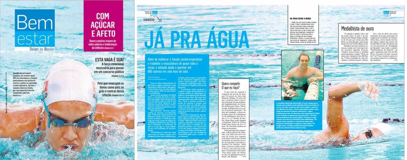 Já pra água Revista Bem Estar - CAPA Diário da Região - 03/05/2015