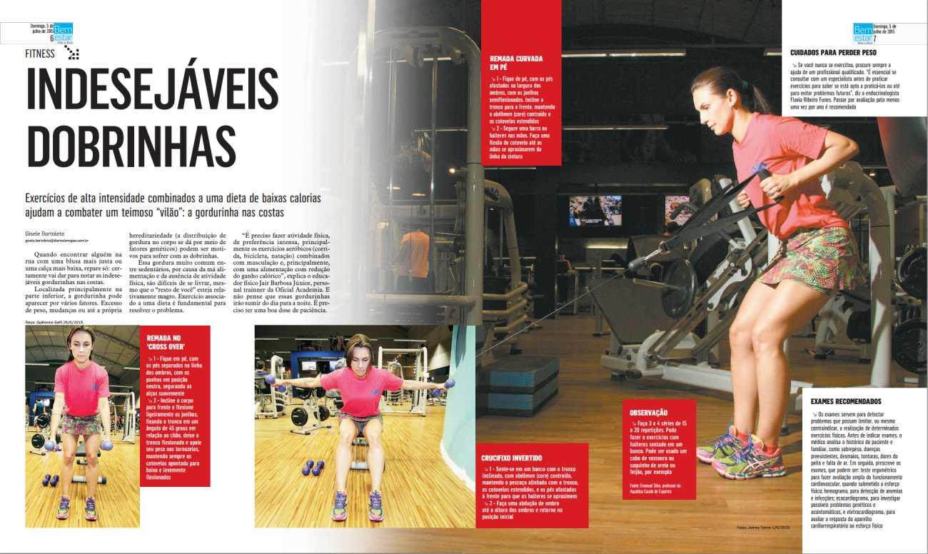 Indesejáveis dobrinhas - Revista Bem Estar - Pag. 6 e 7 - 05/07/2015