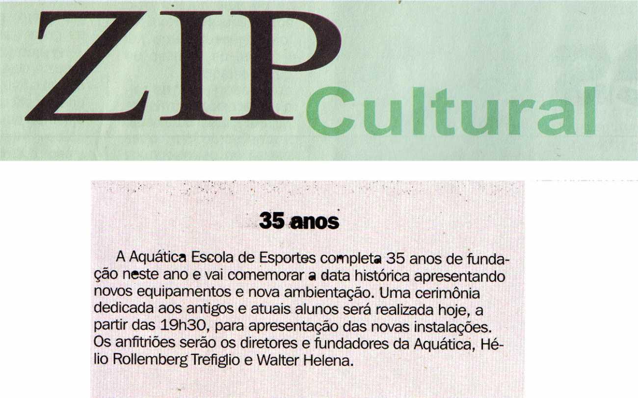 35 anos Coluna Social ZIP Cultural Dhoje - 24/03/2015