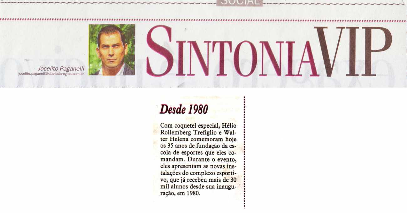 Desde 1980 Coluna Social Sintonia VIP Diário da Região - 24/03/2015