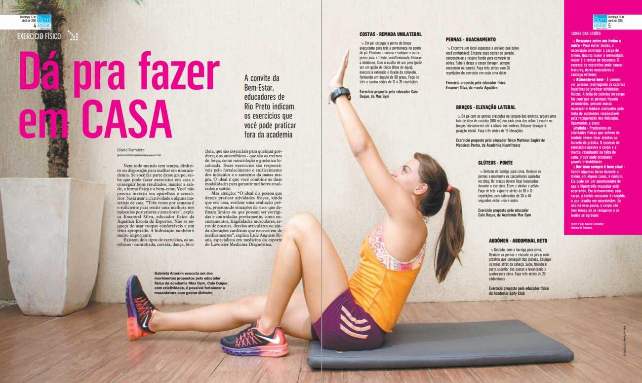 Revista Bem Estar Pag 4 e 5 Diário da Região - 05/04/2015