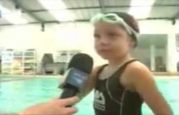 Matéria do RPTV sobre a maior aula de natação do mundo
