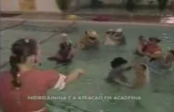 Matéria do Balanço Geral sobre a festa junina na piscina...