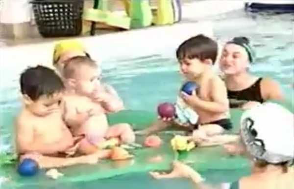 Matéria do TEM Esportes sobre natação para gestantes e...